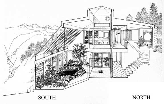 Figure 2: A Direct Gain Passive Solar House (1973 Design By Dennis  Holloway, Architect, For Ellen And Matt Champion, Nederland, Colorado) Part 29