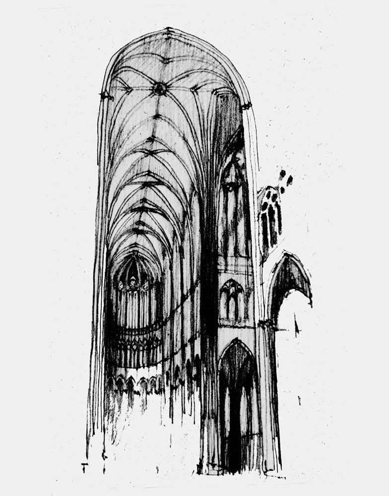 Cologne Cathedral Drawing Cologne Cathedral Germany
