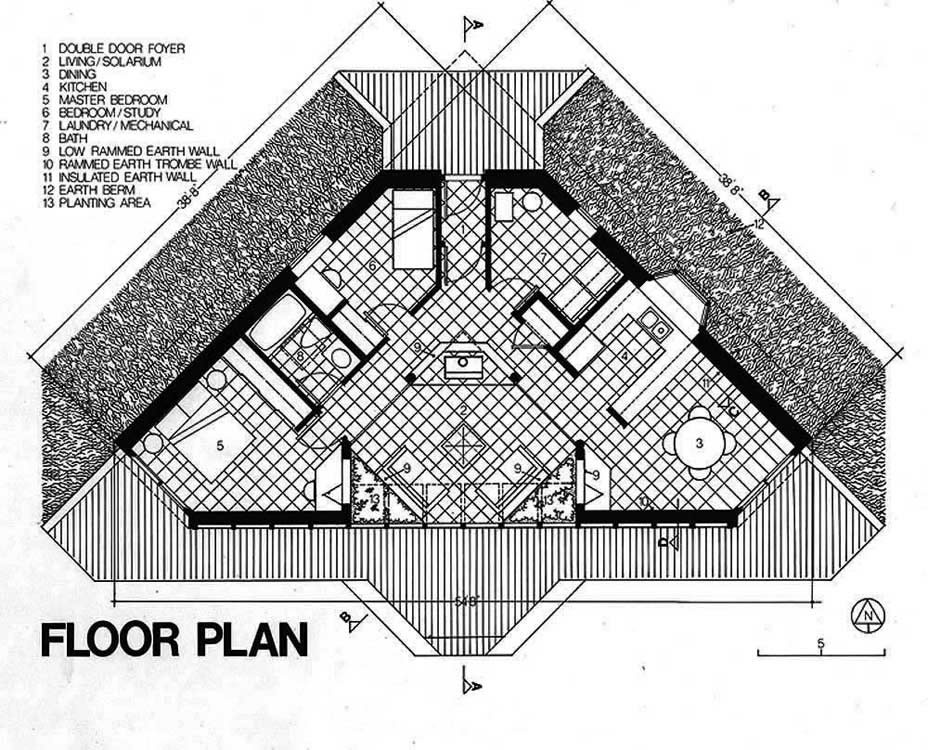 House plans solar house plans home designs for Small solar home plans